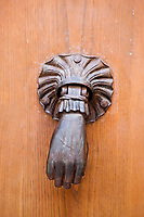 ancient door knocker of the typical south east of france old stone village of ramatuelle near saint tropez on the french riviera