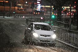 © Licensed to London News Pictures. 10/12/2017. Watford, UK. Heavy snowfall in Watford, Hertfordshire as parts of the south east of England are blanketed with snow for the first time this winter. Photo credit: Ben Cawthra/LNP