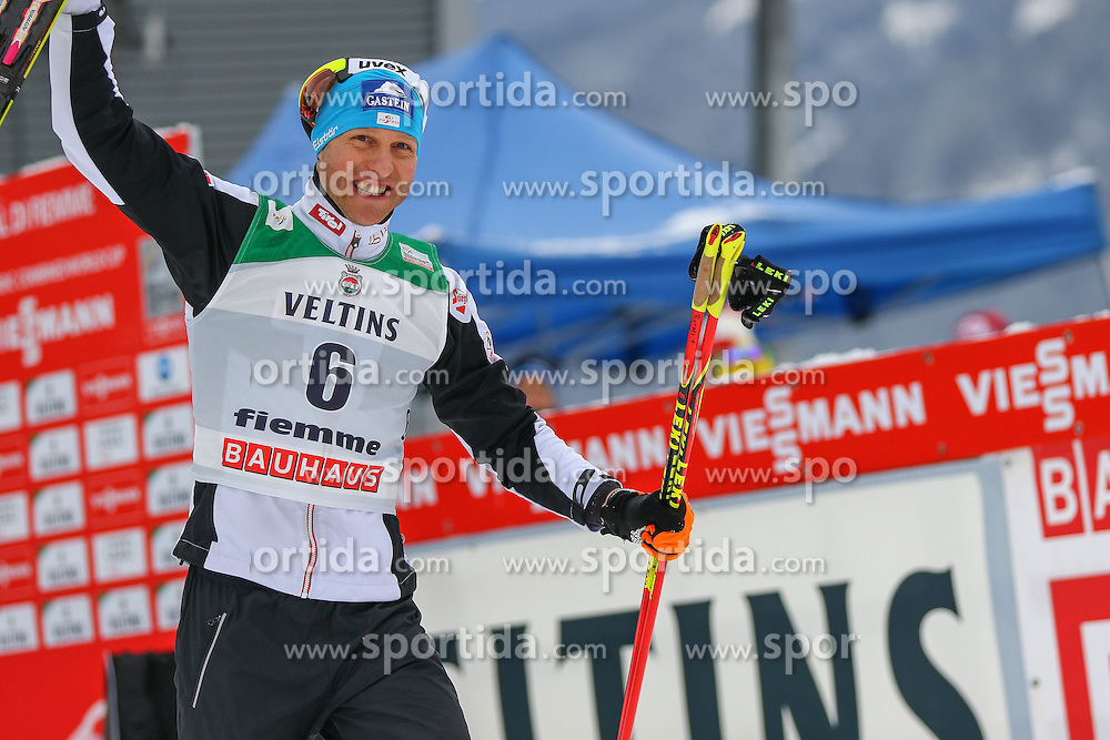 30.01.2015, Langlaufzentrum, Lago di Tesero, ITA, FIS Weltcup Nordische Kombination, Val di Fiemme, Siegerehrung, im Bild Bernhard Gruber (AUT) // during Winner Award Ceremony of the FIS Nordic Combined World Cup Val di Fiemme Langlaufzentrum in Lago di Tesero, Italy on 2015/01/30. EXPA Pictures © 2015, PhotoCredit: EXPA/ Alice Russolo
