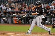 PHOENIX, AZ - MAY 24:  Melky Cabrera #53 of the Chicago White Sox lines out in the first inning against the Arizona Diamondbacks at Chase Field on May 24, 2017 in Phoenix, Arizona. The Arizona Diamondbacks won 8-6.  (Photo by Jennifer Stewart/Getty Images)