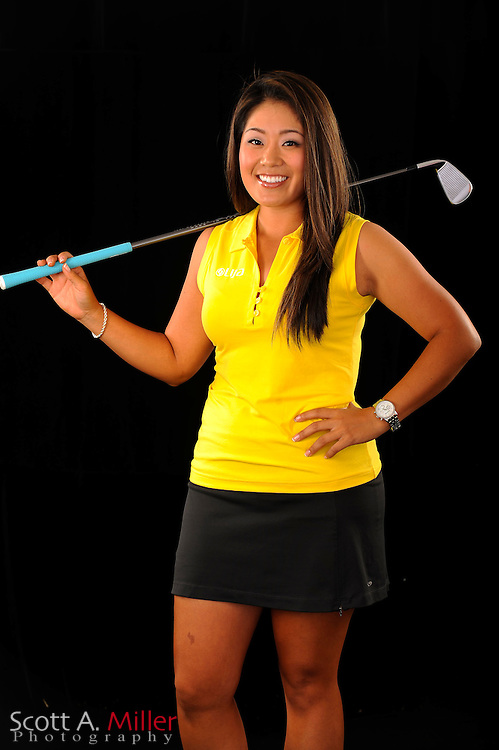 Jenny Suh during a portrait shoot prior to the Symetra Tour's Florida's Natural Charity Classic at the Lake Region Yacht and Country Club on March 21, 2012 in Winter Haven, Fla. <br />