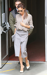 Victoria Beckham leaving the Southbank Centre in London  after giving a  talk about her life as part of the Vogue Festival, Sunday, 28th April  2013  Photo by: Stephen Lock / i-Images