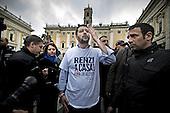 Lega Nord party demo at Campidoglio Square