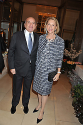 ALEXANDER KRASNER and LUCE CHURCHILL at a dinner hosted by Pablo Ganguli and Ella Krasner to celebrate the 10th Anniversary of Liberatum and in honour of Sir Peter Blake held at The Corinthia Hotel, Nortumberland Avenue, London on 23rd November 2011.