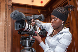 Young person on media course