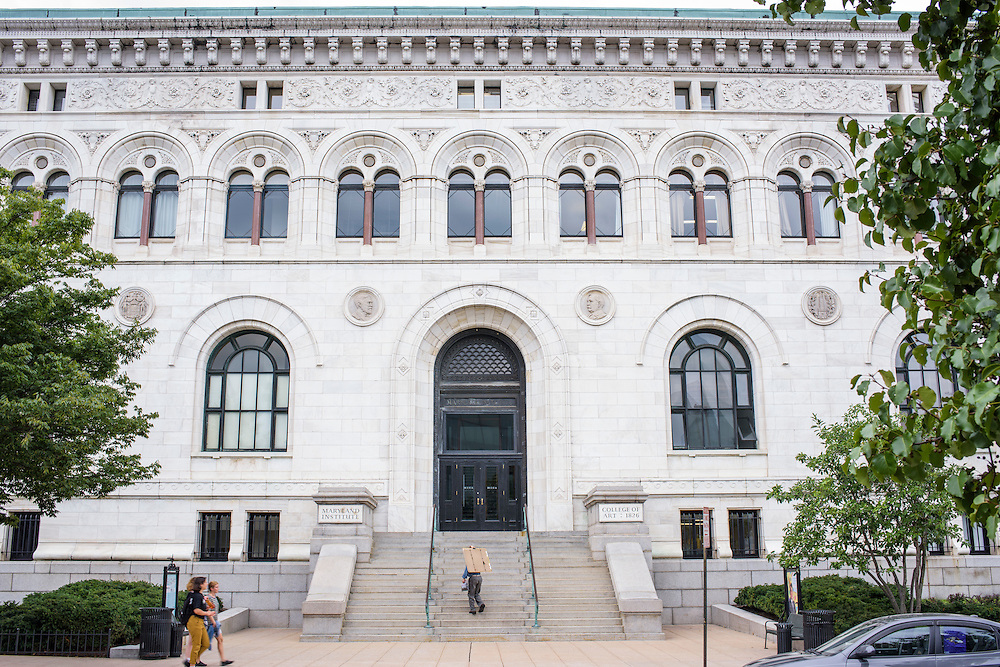 Baltimore, Maryland - July 21, 2014: <br /> <br /> MICA's Main Building.<br /> <br /> U.S. culture has a stereotype about &quot;starving artists,&quot; and high priced art colleges like MICA might not seem to some like a good return on investment.<br /> CREDIT: Matt Roth
