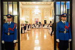 16.03.2016, Belgrade, SRB, der Britische Kronprinz Charles und seine Frau Camilla besuchen Serbien, im Bild Their Royal Highness the Prince of Wales and Duchess of Cornwall at the dinner in honor of them, organized by Serbian Prime Minister Aleksandar Vucic. EXPA Pictures © 2016, PhotoCredit: EXPA/ Pixsell/ POOL<br /> <br /> *****ATTENTION - for AUT, SLO, SUI, SWE, ITA, FRA only*****
