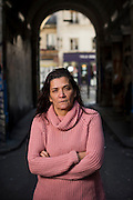 January 17, 2017, Paris, France. Nadia Remadna, born in Créteil on November 15, 1959, president of 'Brigade des mères' (Mothers' Brigade). Author, mother of four children, mediator, militant against radicalization, she denounces the abandonment of republican principles in the suburbs.<br /> <br /> 17 janvier 2017, Paris, France. Nadia Remadna, née à Créteil le 15 novembre 1959, présidente de la Brigade des mères, fondée à Sevran en Seine Saint-Denis. Auteure du livre Comment j'ai sauvé mes enfants, mère de quatre enfants, médiatrice, militante contre la radicalisation. elle dénonce l'abandon des principes républicains dans les banlieues.