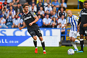 George Evans of Derby County (17) passes the ball during the EFL Sky Bet Championship match between Huddersfield Town and Derby County at the John Smiths Stadium, Huddersfield, England on 5 August 2019.