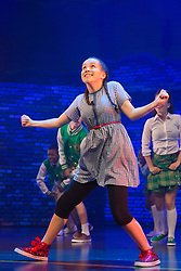 "© Licensed to London News Pictures. 04/08/2014. London, England. With Arizona Snow, 12 years, as Dorothy. Kate Prince and hip-hop dance company ZooNation return to Queen Elizabeth Hall/Southbank Centre for a second year with their show ""Groove on Down the Road"" which is based on ""The Wizard of Oz"". This show is performed entirely by ZooNation's Youth Company with dancers ranging from ages 10-19, as a way of inspiring a new generation of performers. Performances at Southbank Centre's Queen Elizabeth Hall run from 5 to 26 August 2014 and are part of Southbank Centre's ""Festival of Love"". Photo credit: Bettina Strenske/LNP"