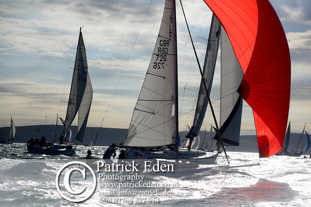 GBR 726, J P Morgan, Round the Island Race, Cowes, Isle of Wight, UK, 2013, Sports Photography