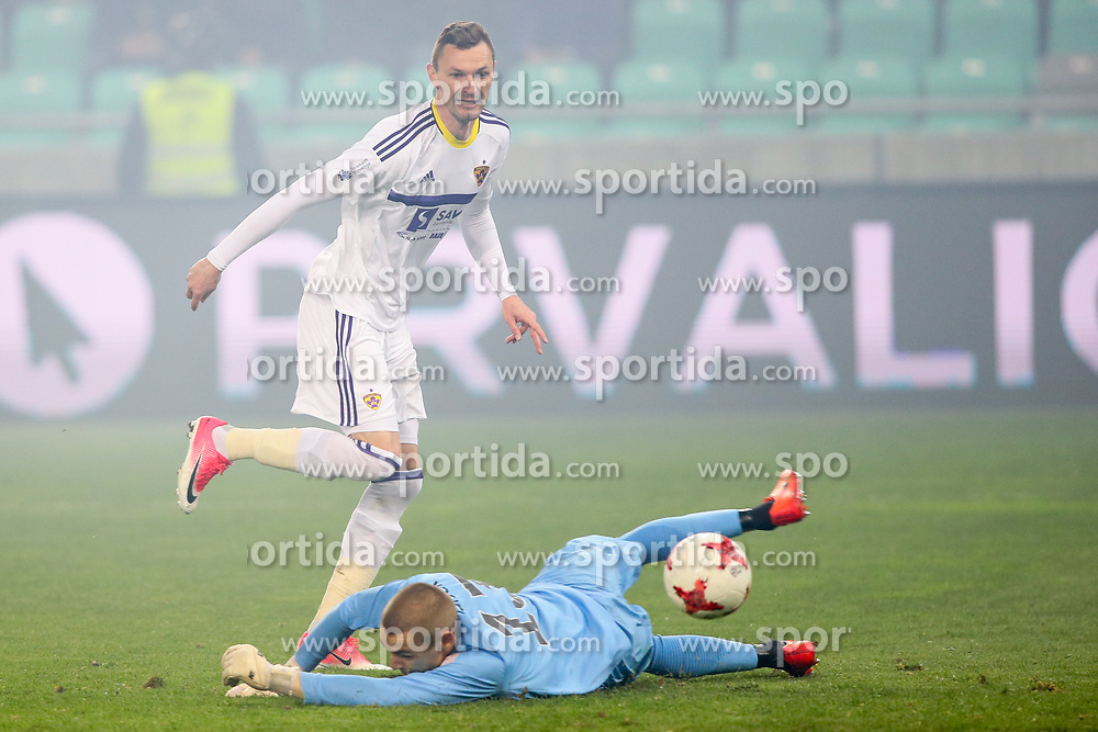 Milivoje Novakovic of NK Maribor vs Rok Vodisek of NK Olimpija during football match between NK Olimpija and NK Maribor in Round #31 of Prva liga Telekom Slovenije 2016/17, on April 29, 2017 in SRC Stozice, Ljubljana, Slovenia. Photo by Matic Klansek Velej / Sportida