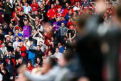 Fans celebrate after Cauley Woodrow of Bristol City scores a goal to make it 1-1 - Rogan/JMP - 16/09/2017 - Ashton Gate Stadium - Bristol, England - Bristol City v Derby County - Sky Bet Championship.