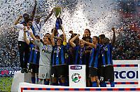 24-08-2008 Milano Italy sport calcio Inter-Roma Supercoppa Italiana 2008 nella foto :  inter vittoria coppa ph. Davide Elias / Agenzia Insidefoto
