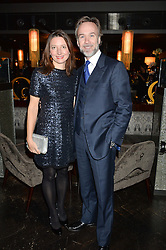 MARCUS WAREING and his wife JANE at the OMEGA VIP dinner hosted by Cindy Crawford and OMEGA President Mr. Stephen Urquhart held at aqua shard', Level 31, The Shard, 31 St Thomas Street, London, SE1 9RY on 10th December 2014.