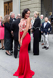 Selita Ebanks during the Mont Blanc  Falstaff Salzburg Festival.<br /> The Salzburg Festival is a prominent festival of music and drama established in 1920. It is held each summer within the Austrian town of Salzburg, the birthplace of Wolfgang Amadeus Mozart,<br /> Austria,<br /> Monday, July 29, 2013<br /> Picture by Agentur Schneider-Press /NZ / i-Images<br /> UK & USA ONLY