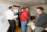 Gilmanton Fire Building plan review and tour February 20, 2010.