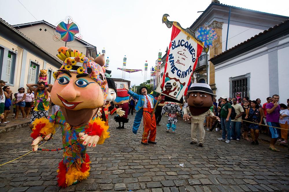 Mariana_MG, Brasil...Bloconeco e  banda Cia dos Navegantes no carnaval em Mariana...The Bloconeco and Cia dos Navegantes band in Mariana carnival...Foto: LEO DRUMOND /  NITRO