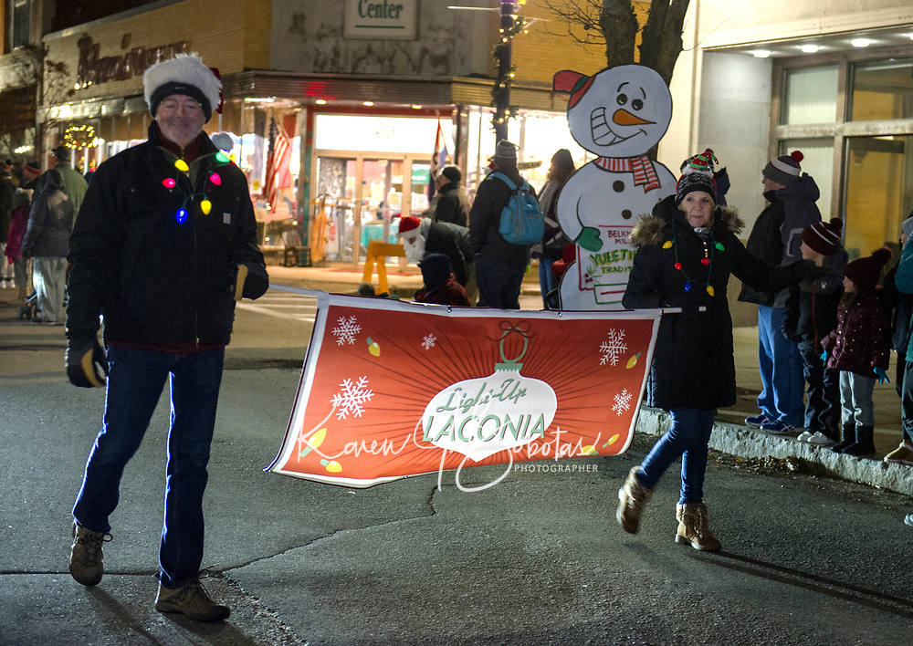 Light Up Laconia Holiday Parade and Tree Lighting.  Karen Bobotas for the Laconia Daily Sun