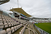 General view of the Ageas Bowl on an overcast morning before the first day of the Specsavers County Champ Div 1 match between Hampshire County Cricket Club and Essex County Cricket Club at the Ageas Bowl, Southampton, United Kingdom on 5 April 2019.