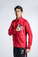 **EXCLUSIVE**Portrait of Chinese soccer player Chen Anqi of Chongqing Dangdai Lifan F.C. SWM Team for the 2018 Chinese Football Association Super League, in Chongqing, China, 27 February 2018.