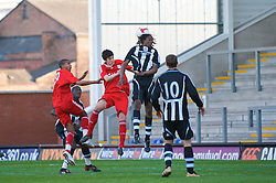 WARRINGTON, ENGLAND - Wednesday, April 29, 2009: Liverpool's Mikel San Jose Dominguez scores the opening goal against Newcastle United during the FA Premiership Reserves League (Northern Division) match at the Halliwell Jones Stadium. (Photo by David Rawcliffe/Propaganda)