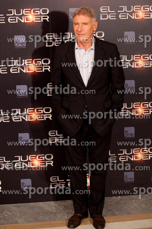 03.10.2013, Villa Magna Hotel, Madrid, ESP, Enders Game Photocall, im Bild US actor Harrison Ford poses // during a photocall for the film Ender's Game, Villa Magna Hotel, Madrid, Spain on 2013/10/03. EXPA Pictures &copy; 2013, PhotoCredit: EXPA/ Alterphotos/ Ricky Blanco<br /> <br /> ***** ATTENTION - OUT OF ESP and SUI *****