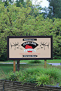 Clam Lake Wisconsin Elk Capital Sign