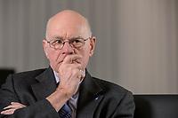 17 DEC 2019, BERLIN/GERMANY:<br /> Norbert Lammert, CDU, Vorsitzender der Konrad-Adenauer-Stiftung, KAS, waehrend einem Interview, in seinem Buero, Konrad-Adenauer-Stiftung<br /> IMAGE: 20191217-02-002<br /> KEYWORDS: Büro