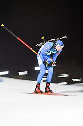 February 11, 2018 - Pyeongchang, Gangwon, South Korea - Dominik Windisch ofItaly  at Mens 10 kilometre sprint Biathlon at olympics at Alpensia biathlon stadium, Pyeongchang, South Korea on February 11, 2018. (Credit Image: © Ulrik Pedersen/NurPhoto via ZUMA Press)