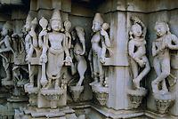 Inde, Rajasthan, Ranakpur, Temple Jain de Parshvanatha. // India, Rajasthan, Ranakpur, Jain temple of Parshvanatha