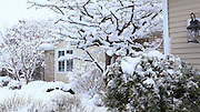 Views of De Pere, Wisconsin, on the snowy morning of Tuesday, January 26, 2016.