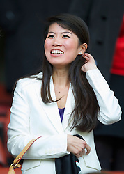 LIVERPOOL, ENGLAND - Sunday, March 28, 2010: The wife of Liverpool's commercial director Ian Ayre during the Premiership match against Sunderland at Anfield. (Photo by: David Rawcliffe/Propaganda)