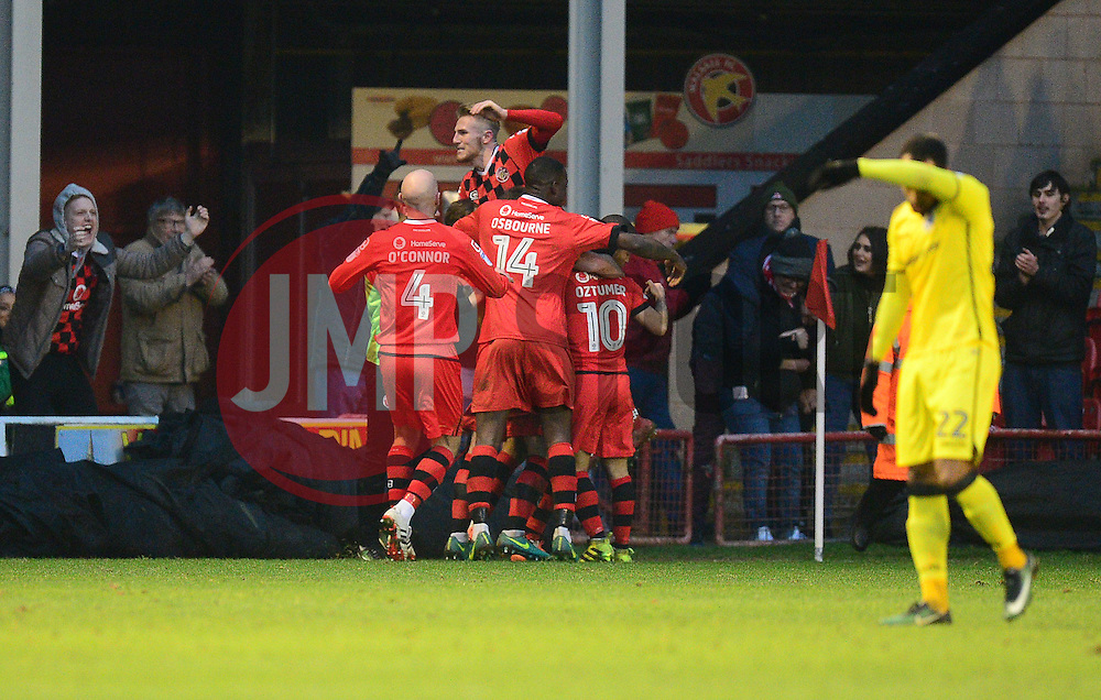 Walsall celebrate a goal. - Mandatory by-line: Alex James/JMP - 21/01/2017 - FOOTBALL - Banks's Stadium - Walsall, England - Walsall v Bristol Rovers - Sky Bet League One