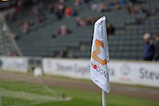 MK Dons corner flag during the EFL Sky Bet League 1 match between Milton Keynes Dons and Shrewsbury Town at stadium:mk, Milton Keynes, England on 25 February 2017. Photo by Dennis Goodwin.