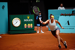 May 7, 2019 - Madrid, Spain - Sara Sorribes (SPA) in her match against Naomi Osaka (JPN) during day four of the Mutua Madrid Open at La Caja Magica in Madrid on 7th May, 2019. (Credit Image: © Juan Carlos Lucas/NurPhoto via ZUMA Press)