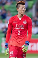 MELBOURNE, VIC - MARCH 05: Jo Hyeonwoo (21) of Daegu FC looks on during the AFC Champions League soccer match between Melbourne Victory and Daegu FC on March 05, 2019 at AAMI Park, VIC. (Photo by Speed Media/Icon Sportswire)
