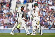 Wicket - Jofra Archer of England celebrates taking the wicket of Marnus Labuschagne of Australia during the 5th International Test Match 2019 match between England and Australia at the Oval, London, United Kingdom on 13 September 2019.