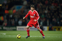 PRESTON, ENGLAND - Saturday, January 3, 2009: Liverpool's Emiliano Insua in action against Preston North End during the FA Cup 3rd Round match at Deepdale. (Photo by David Rawcliffe/Propaganda)