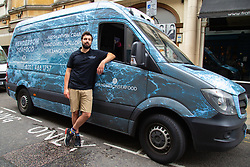 Shaun Henderson who bought an old van from his dad and with just one customer confirmed, he moved to London to supply the London food scene with hand-picked Devon crab - that supports his local Torbay economy.. London, June 19 2018.