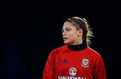 SAINT PETERSBURG, RUSSIA - Sunday, October 22, 2017: Wales' Peyton Vincze during a training session at the Petrovsky Minor Sport Arena ahead of the FIFA Women's World Cup 2019 Qualifying Group 1 match between Russia and Wales. (Pic by David Rawcliffe/Propaganda)