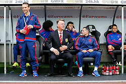 Manchester United Manager Louis van Gaal looks on - Mandatory byline: Rogan Thomson/JMP - 07966 386802 - 30/08/2015 - FOOTBALL - Liberty Stadium - Swansea, Wales - Swansea City v Manchester United - Barclays Premier League.