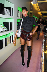 Tolula Adeyemi at a party hosted by Prada to celebrate launch of a book documenting the company's diverse projects in fashion, architecture, film and art held at their store 16/18 Old Bond Street, London on 19th November 2009.