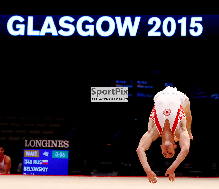 2015 Artistic Gymnastics World Championships being held in Glasgow from 23rd October to 1st November 2015...Team Canada in the afternoon practice session...(c) STEPHEN LAWSON | SportPix.org.uk