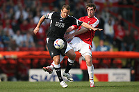 Photo: Rich Eaton.<br /> <br /> Bristol City v Swansea City. Coca Cola League 1. 07/04/2007. Lee Trundle left of Swansea and Bristols Richard Keogh