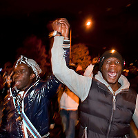 Manifestazione della  comunita' senegalese