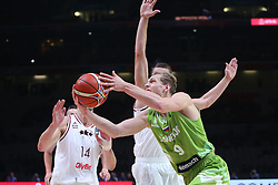 Jaka Blazic of Slovenia during basketball match between Latvia and Slovenia at Day 8 in Round of 16 of FIBA Europe Eurobasket 2015, on September 12, 2015, in LOSC Lile stadium, Croatia. Photo by Marko Metlas / MN PRESS PHOTO / SPORTIDA
