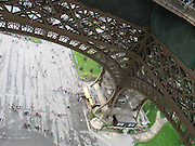 Steel basis of the Eiffel Tower