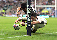 © Andrew Fosker / Seconds Left Images 2010 - England's Shontayne Hape  loses control of the ball and crucially doesn't score a try for England -  England v New Zealand All Blacks - Investec Challenge Series - 06/11/2010 - Twickenham Stadium  - London - All rights reserved..