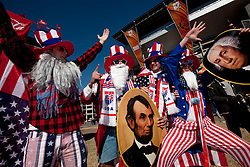 US fans enjoy the atmosphere ahead of the 2010 FIFA World Cup South Africa Group C match between Slovenia and USA at Ellis Park Stadium on June 18, 2010 in Johannesberg, South Africa. (Photo by Vid Ponikvar / Sportida)